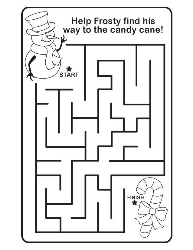 Easy Christmas Maze for Preschoolers