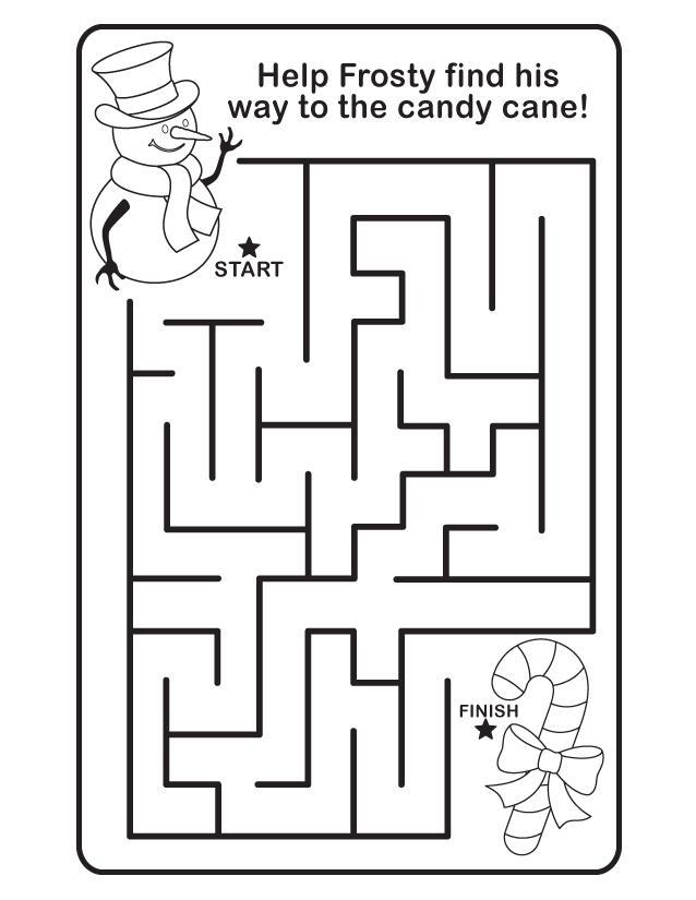 Easy Christmas Maze for Preschoolers