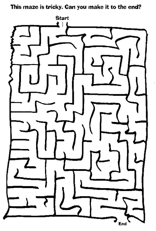 Easy Mazes Printable