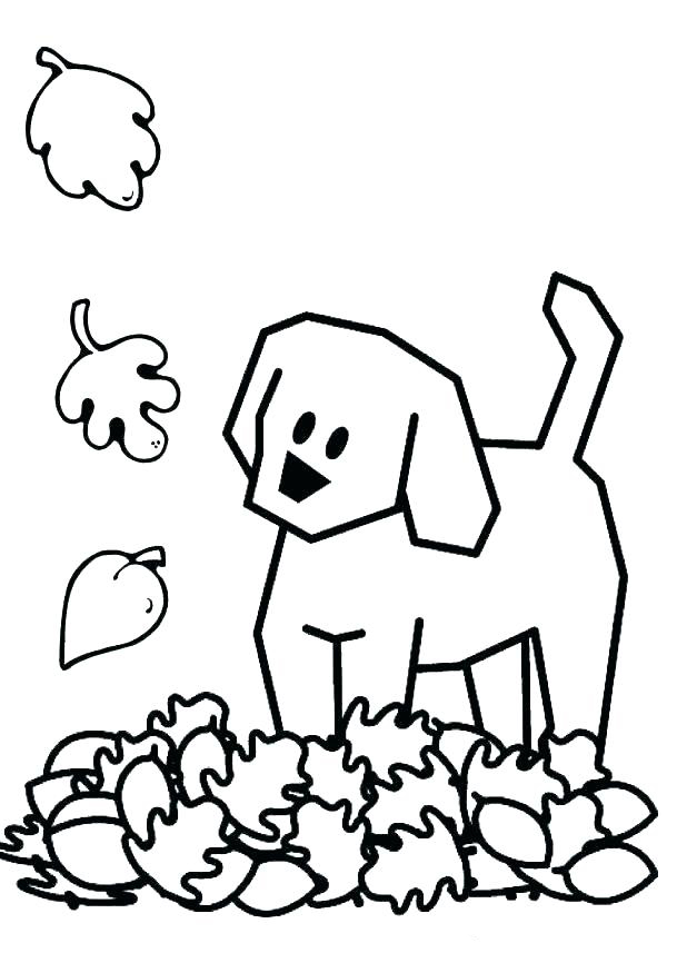 Falling Leaves in November Coloring Page
