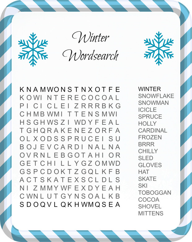 picture regarding Winter Word Search Printable titled Wintertime Term Glimpse - Least complicated Coloring Web pages For Youngsters