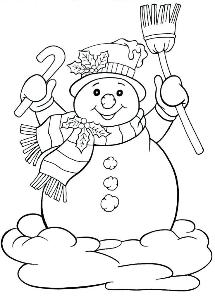 Frosty - December Coloring Pages