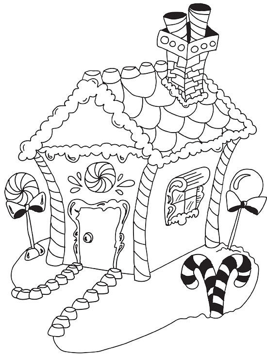 Gingerbread Christmas Coloring Page