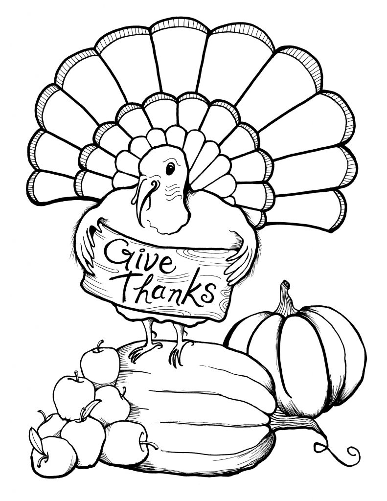 Give Thanks - November Coloring Pages