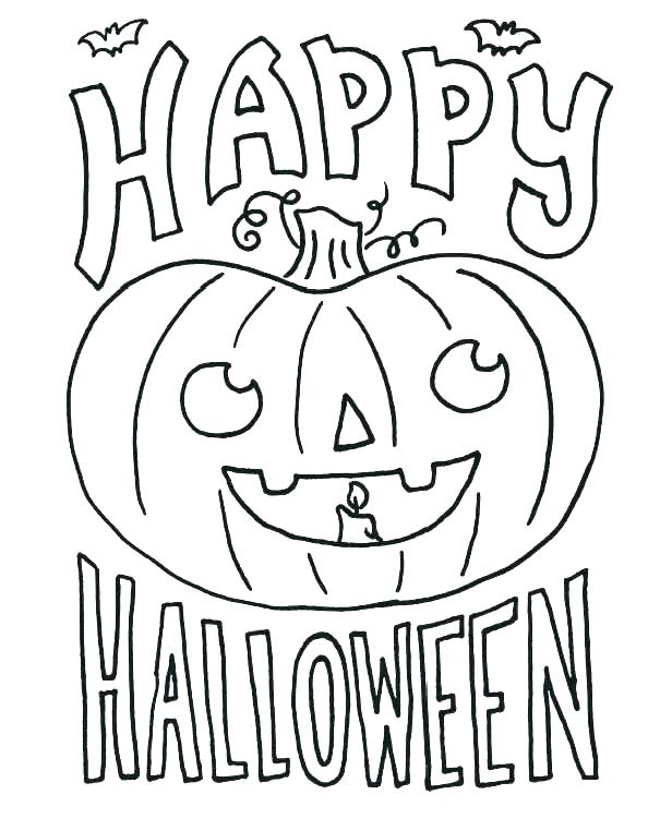 Halloween October Coloring Pages