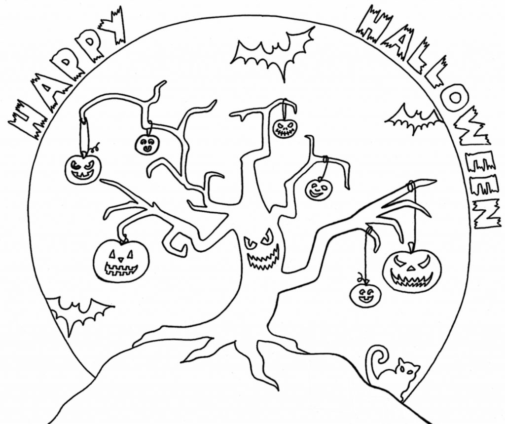 Happy Halloween - October Coloring Pages