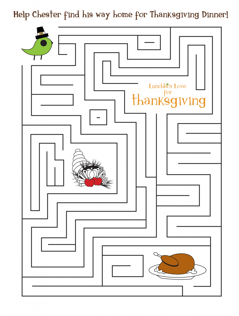 Happy Thanksgiving Maze