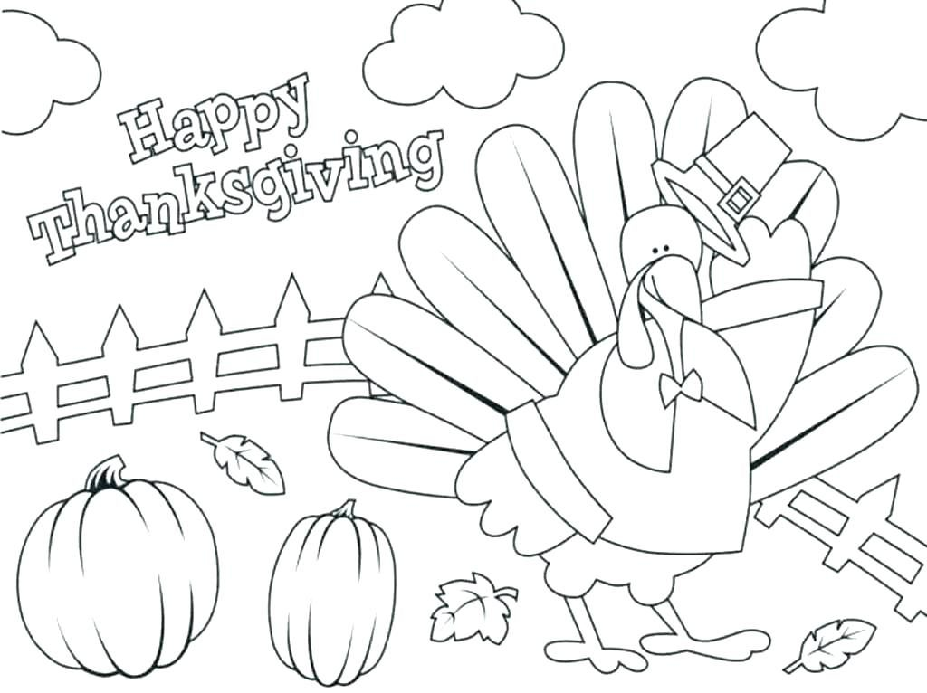 Happy Thanksgiving - November Coloring Pages