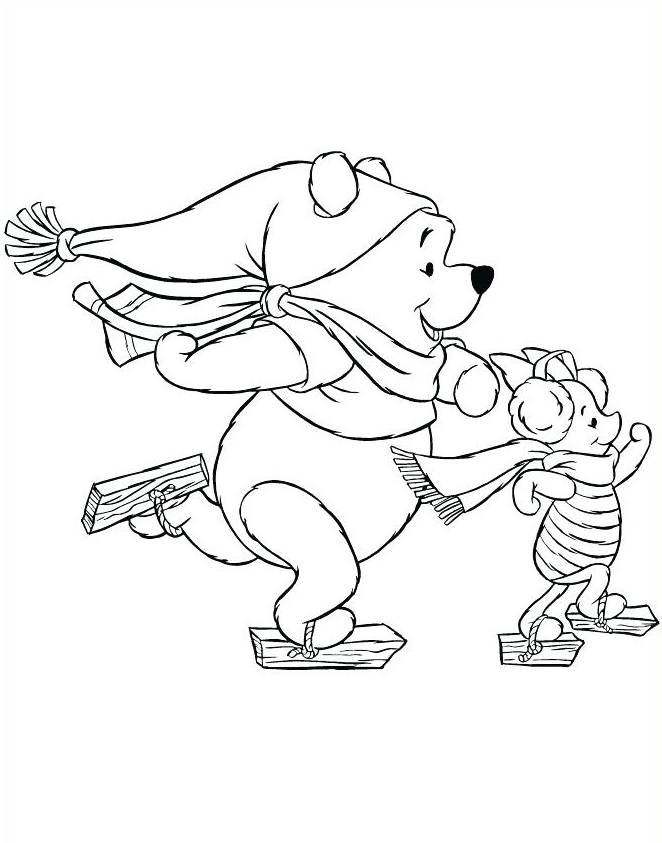 Ice Skating - December Coloring Pages