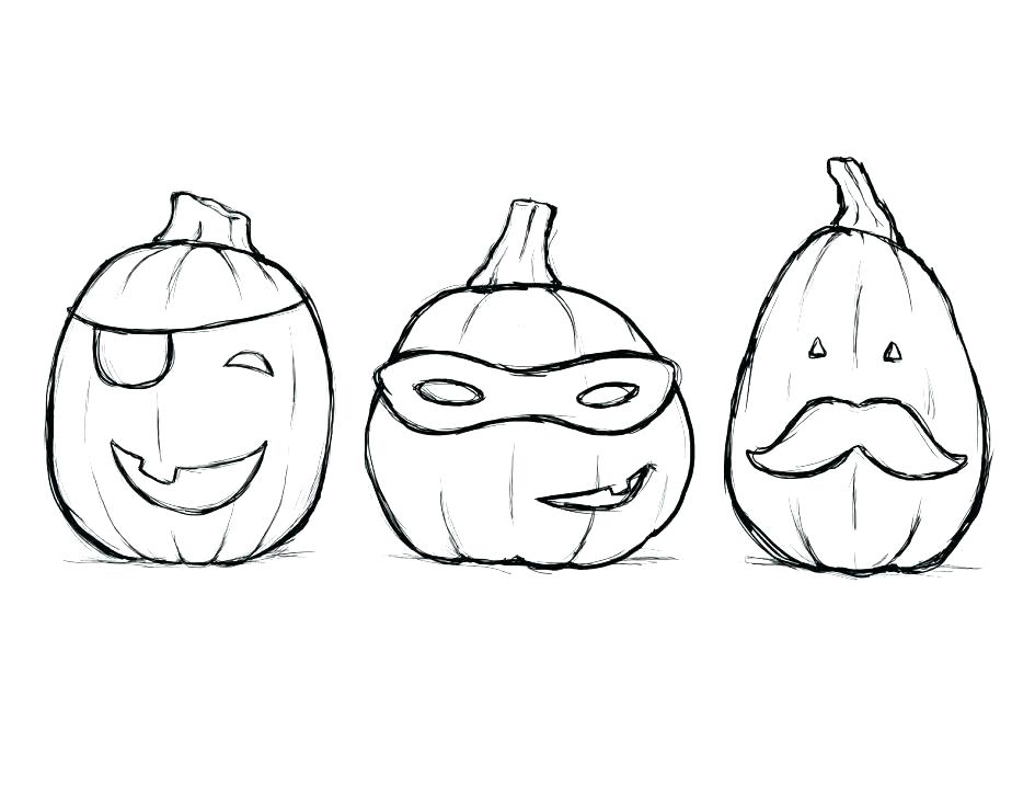 Masked Pumpkin October Coloring Pages