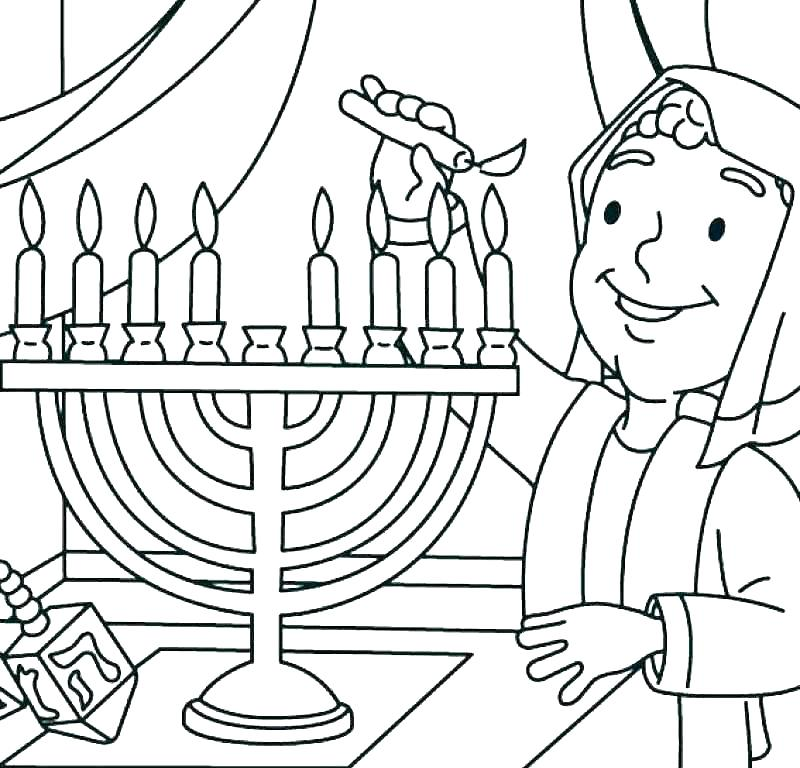 Menorah - December Coloring Pages