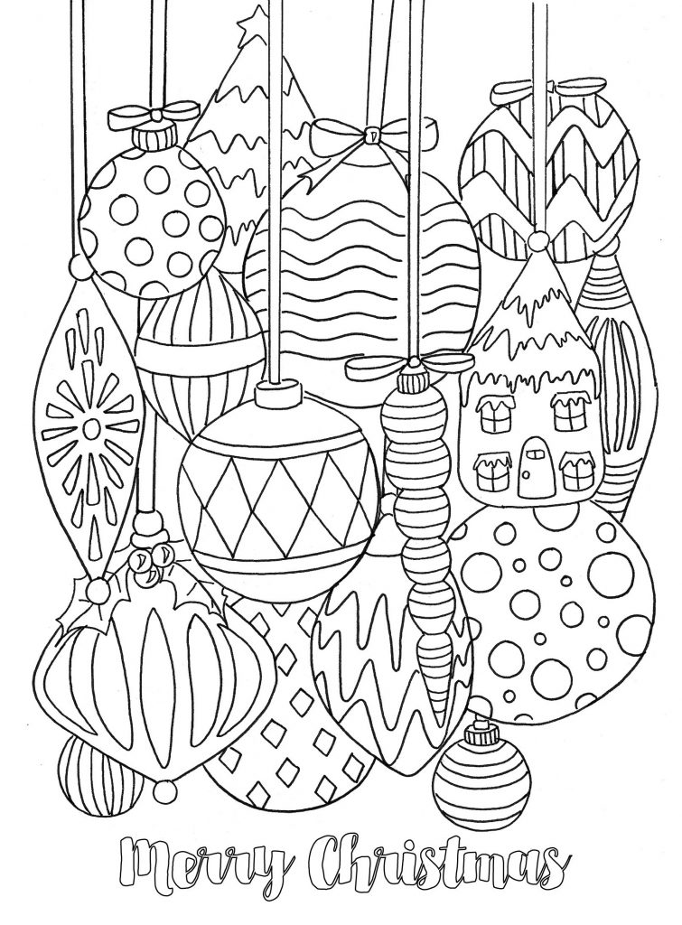 Merry Merry Christmas Coloring Page Printables