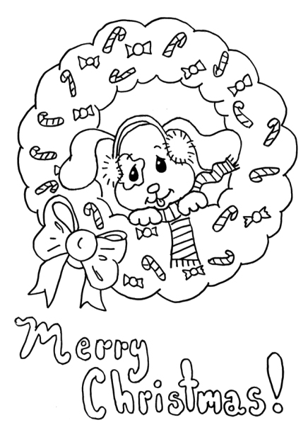 Merry Christmas Coloring Pages for Preschoolers