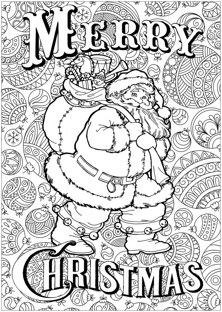 Merry Christmas Santa Coloring Page