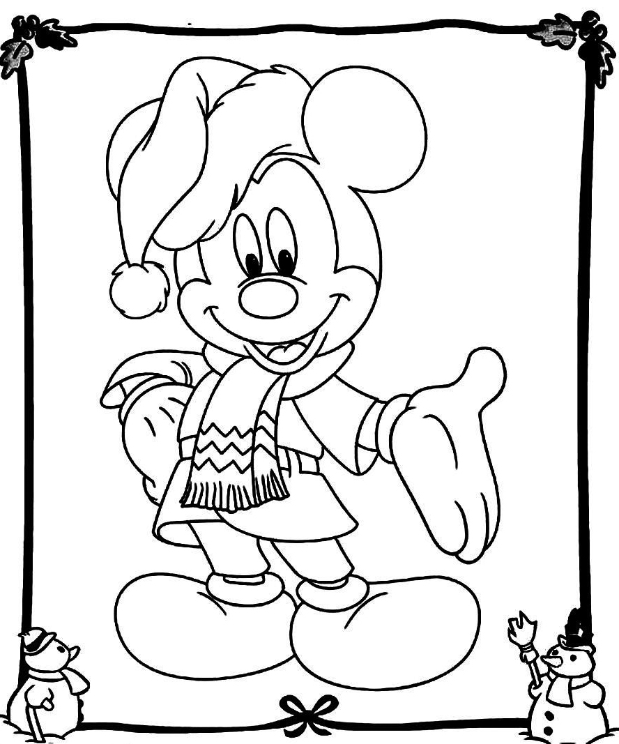 mickey mouse coloring pages christmas | Mickey Mouse Christmas Coloring Pages - Best Coloring ...