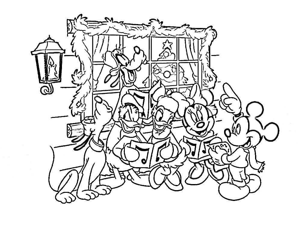 Mickey Mouse Coloring Pages Christmas