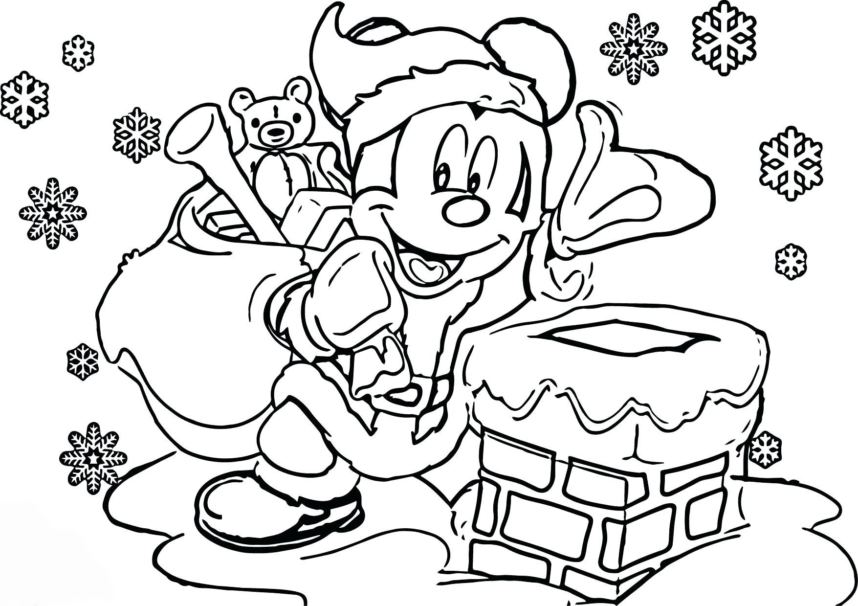 Mickey Mouse Christmas Coloring Pages - Best Coloring ...