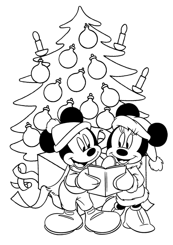 mickey christmas coloring pages Mickey Mouse Christmas Coloring Pages   Best Coloring Pages For Kids mickey christmas coloring pages