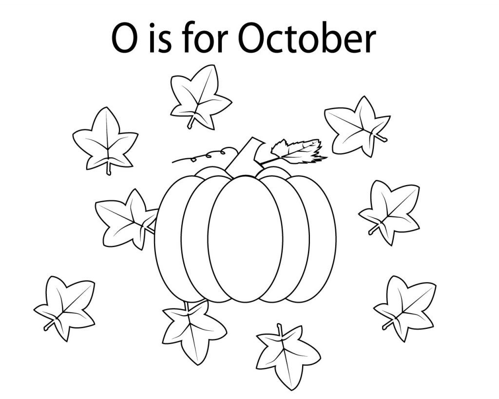 O is for October Coloring Pages