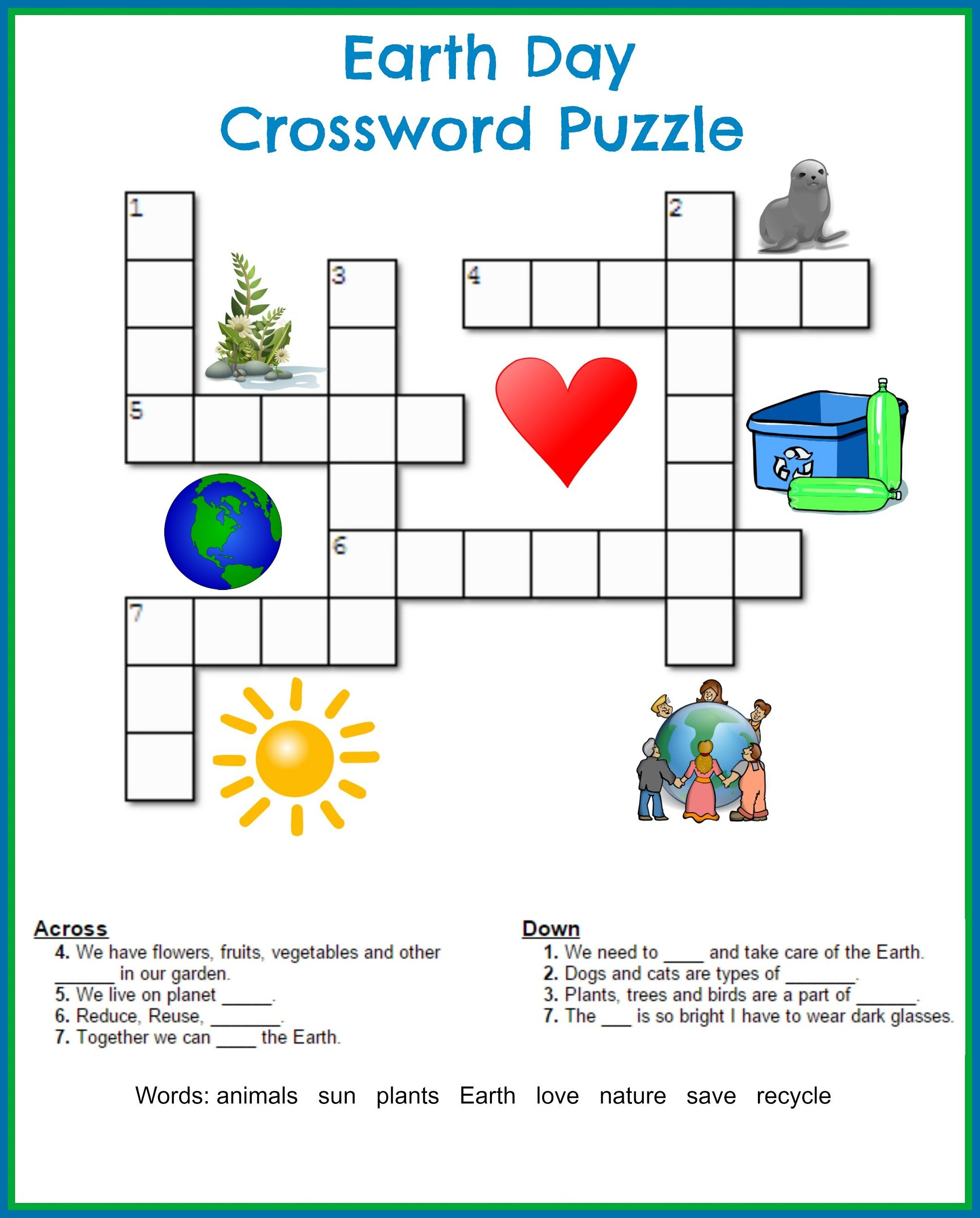 Fan image for kids crossword puzzle printable
