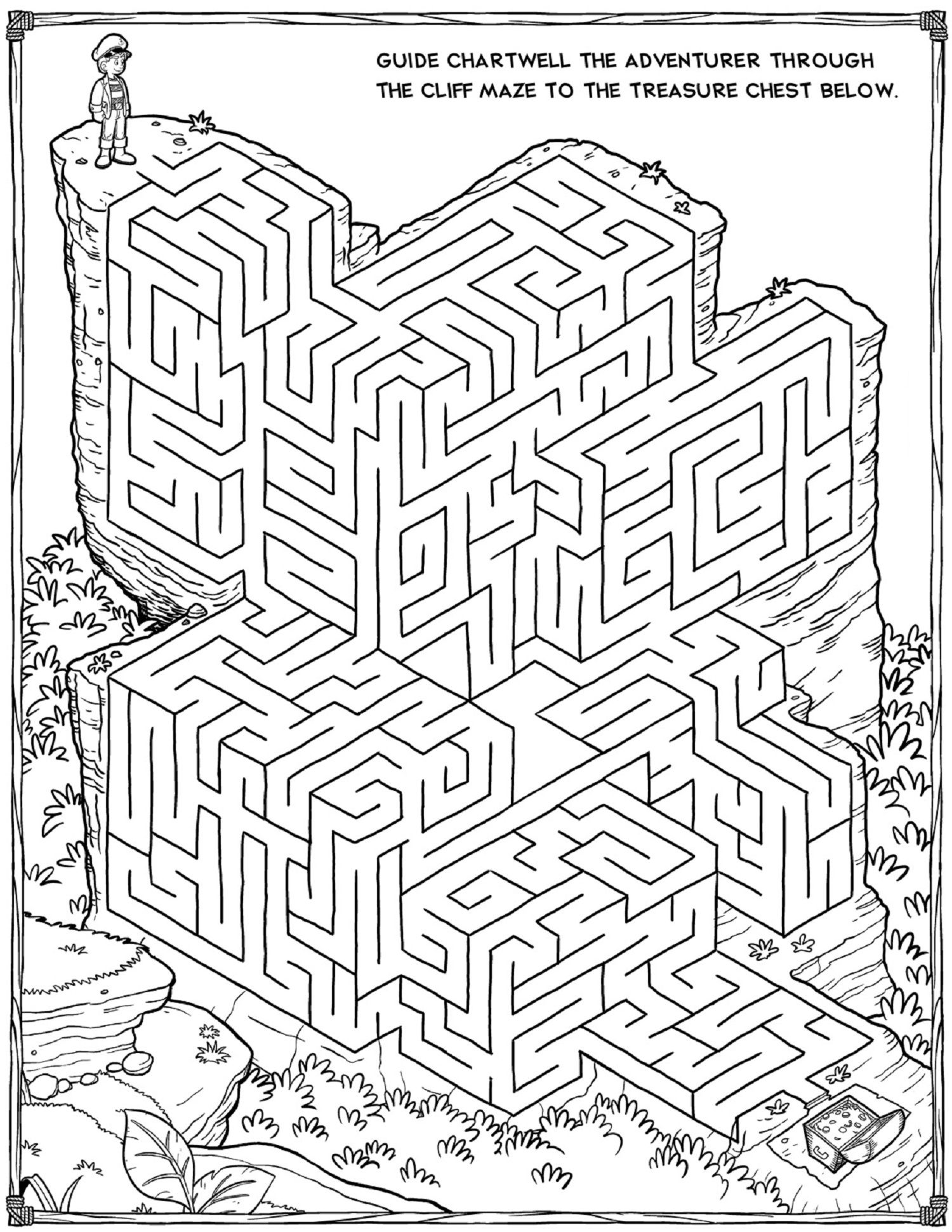 This is a picture of Juicy Kids Printable Mazes