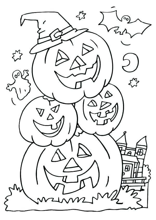 Printable October Coloring Pages Free