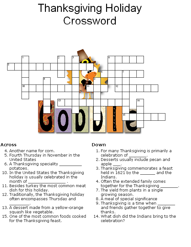 Printable Thanksgiving Puzzle
