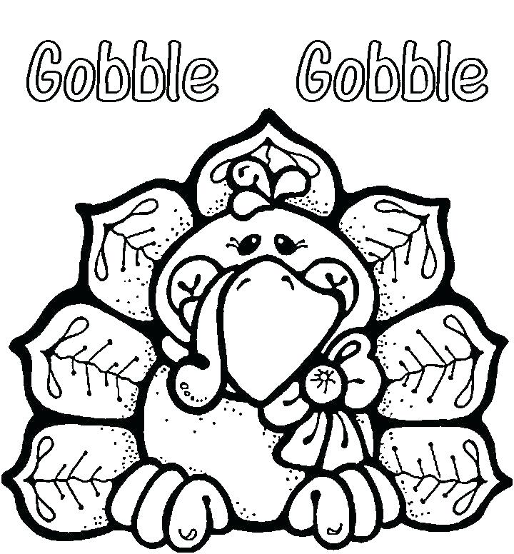 Printable Turkey - November Coloring Pages