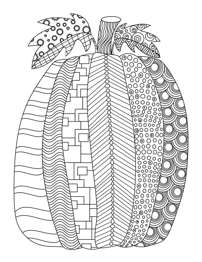 Pumpkin Design - October Coloring Pages