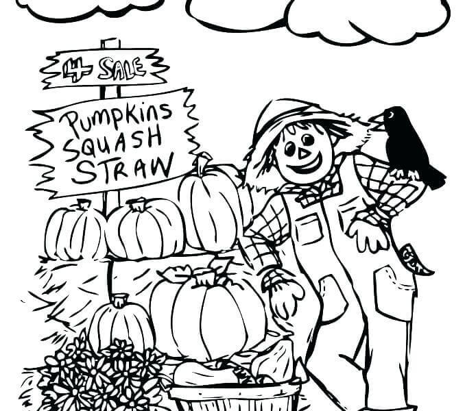 Pumpkins - October Coloring Pages