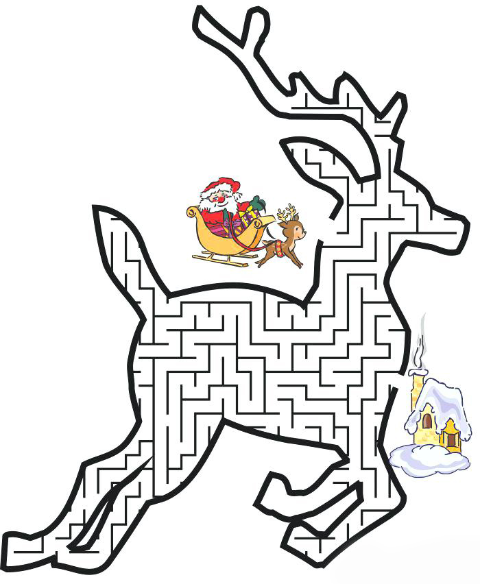 Christmas Mazes Best Coloring