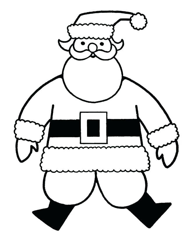 Santa Christmas Coloring Pages for Preschoolers