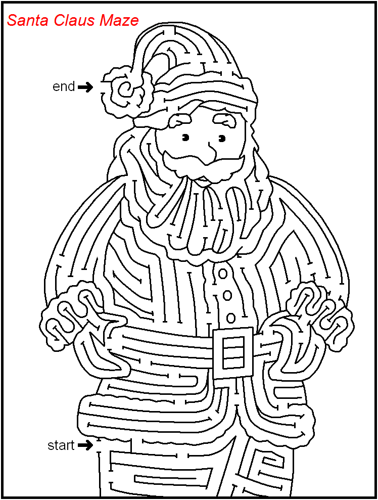 Christmas Mazes Best Coloring Pages For Kids