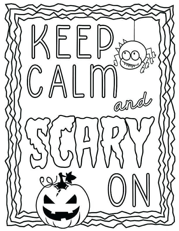 Scary On - October Coloring Pages