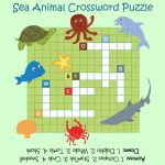 Sea Animal Crossword Puzzles For Kids