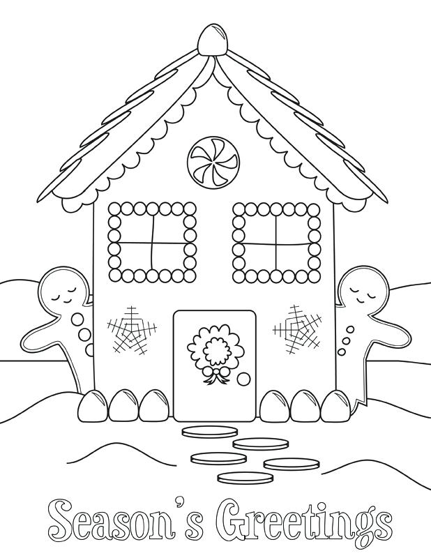 Seasons Greetings - December Coloring Pages