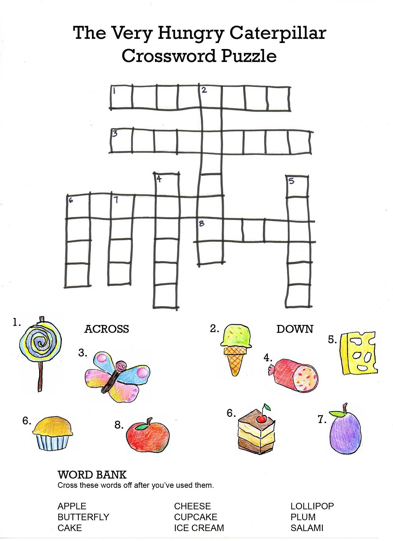 image regarding Simple Crossword Puzzles Printable named Crossword Puzzles For Children - Ideal Coloring Web pages For Little ones