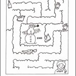 Snowy Christmas Maze Game