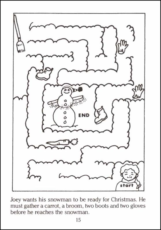 Christmas Mazes.Christmas Mazes Best Coloring Pages For Kids