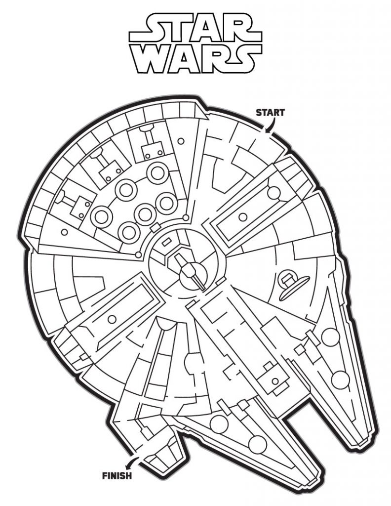 Star Wars Printable Maze