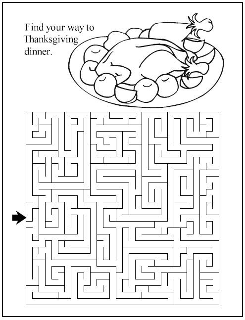 Thanksgiving Dinner Maze