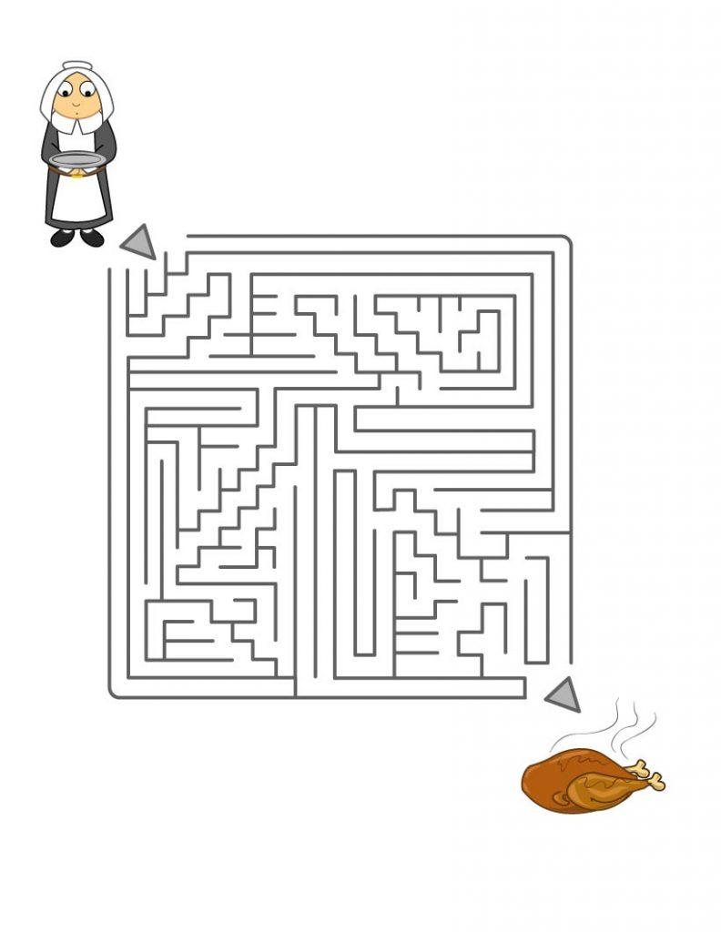 Thanksgiving Maze Puzzle