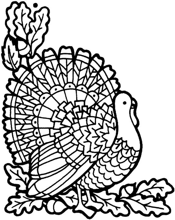 Thanksgiving Turkey - November Coloring Pages