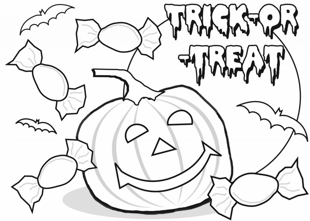 Trick or Treat October Coloring Pages