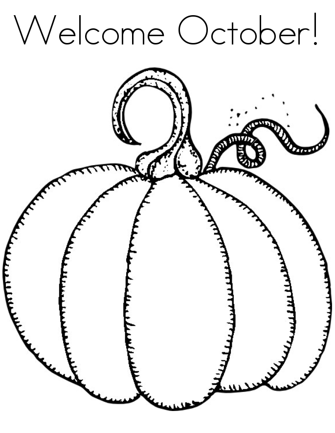 October Coloring Pages Best Coloring