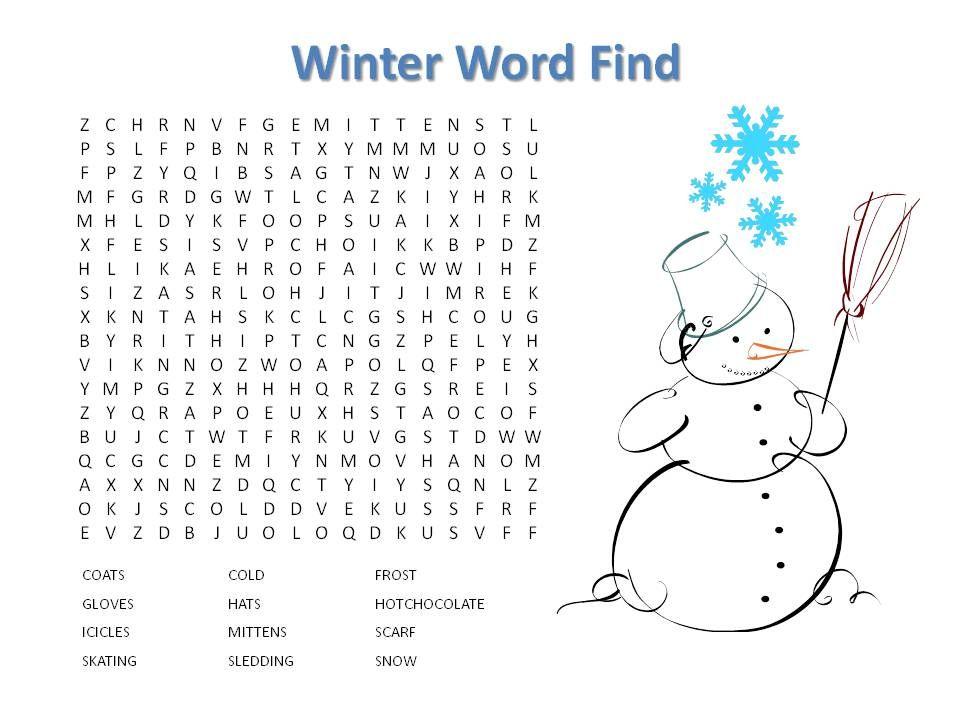 Winter Word Find