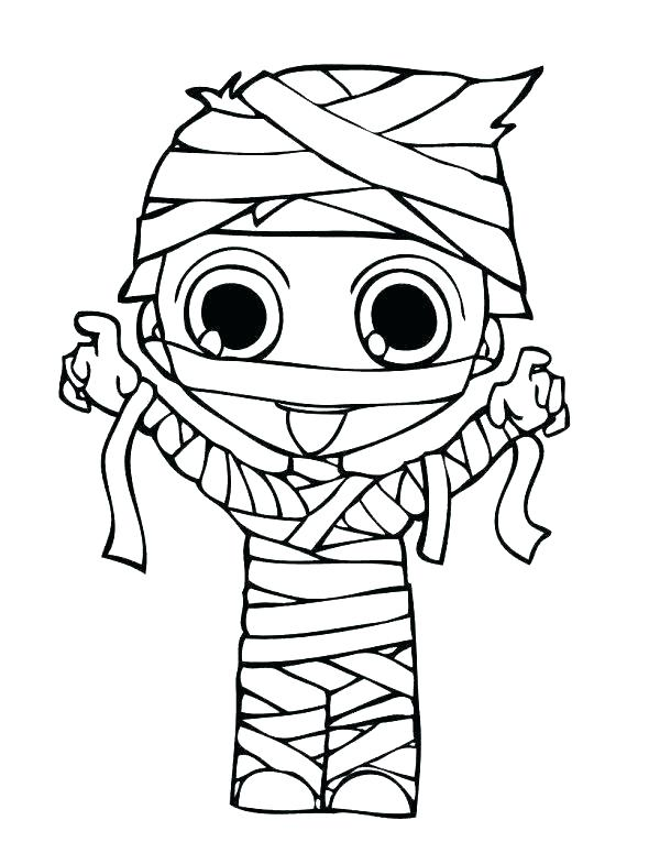 Young Mummy - October Coloring Pages
