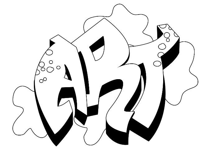 Art - Graffiti Coloring Pages