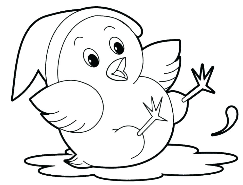 Baby Animal Coloring Pages Bird