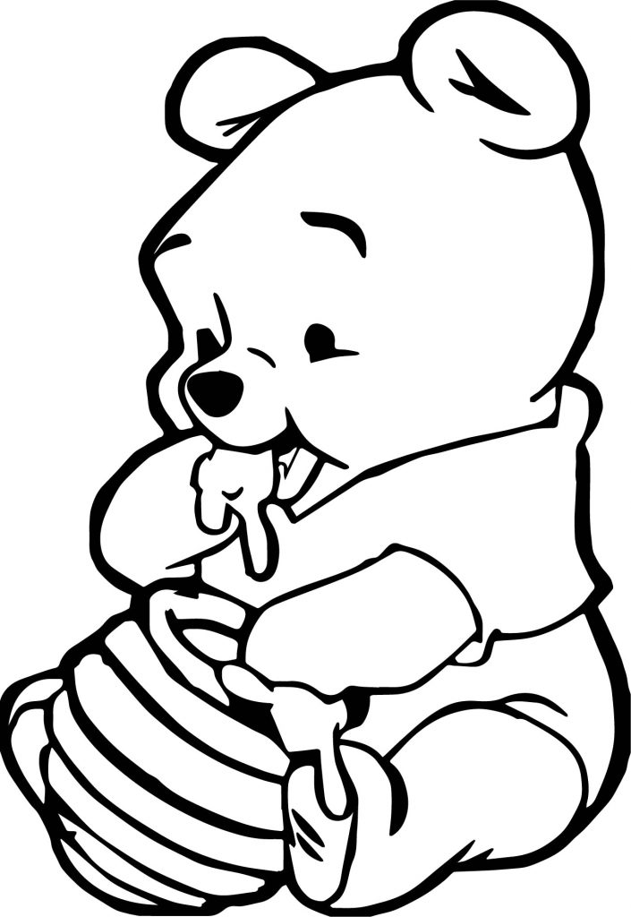 Baby Animal Coloring Pages Winnie the Pooh